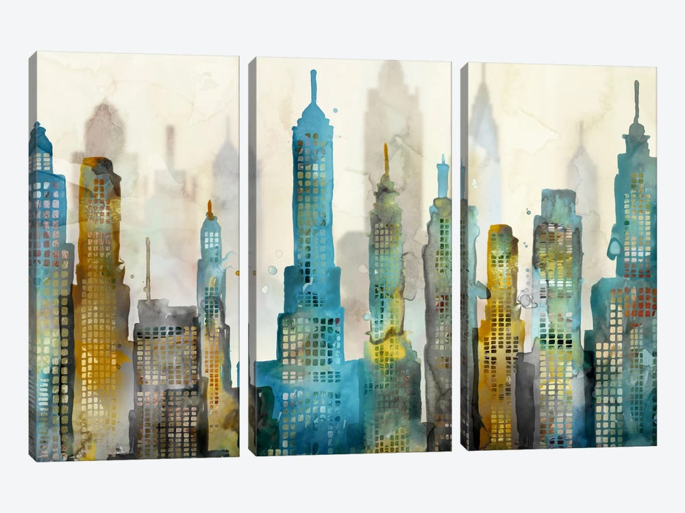 City Sky 3-piece Art Print