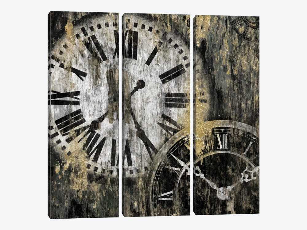 Clockwork I 3-piece Canvas Art Print