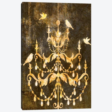 Deco Gold Distress I Canvas Print #ESK50} by Edward Selkirk Canvas Art