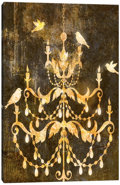 Deco Gold Distress I Canvas Art Print
