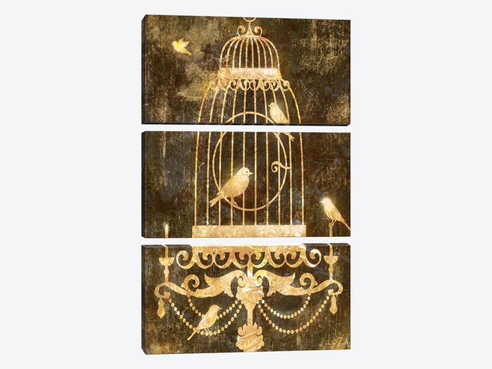 Deco Gold Distress II by Edward Selkirk 3-piece Canvas Art Print