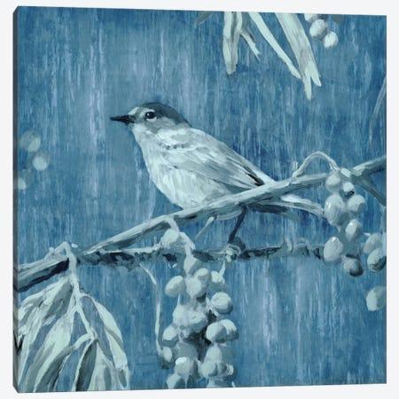 Denim Songbird I Canvas Print #ESK52} by Edward Selkirk Canvas Artwork