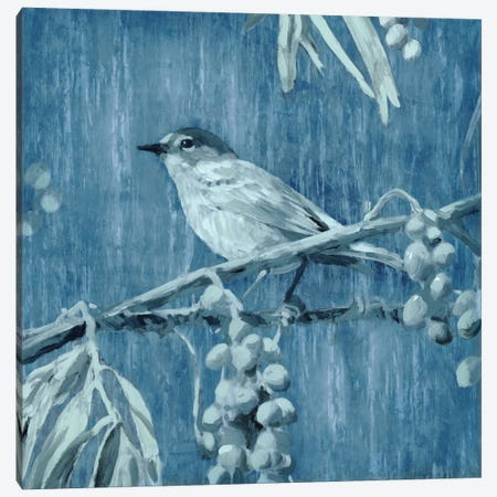 Denim Songbird I Canvas Print #ESK52} by Edward Selkirk Canvas Artwork