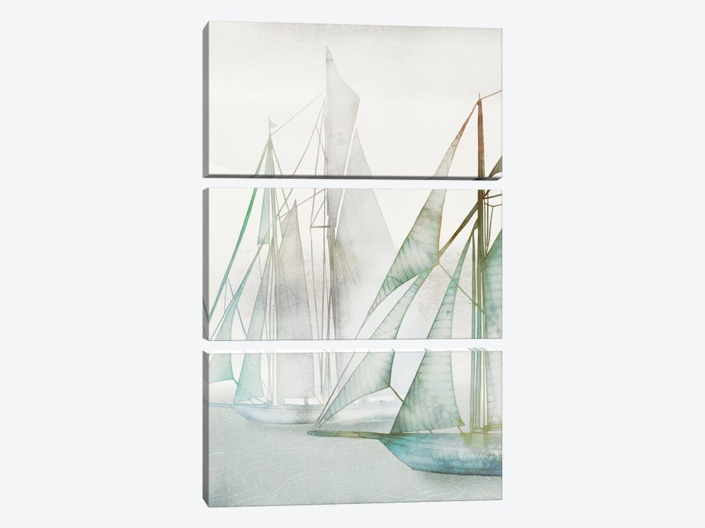 Glide II by Edward Selkirk 3-piece Canvas Wall Art