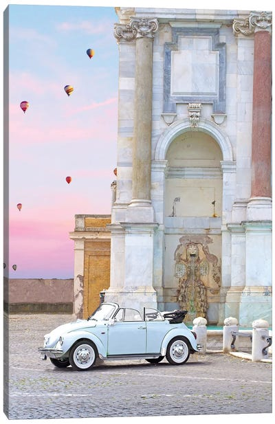 Buggy In Rome Canvas Art Print