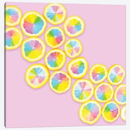 Color Wheel Citrus Canvas Print #ESM14} by Erin Summer Canvas Print