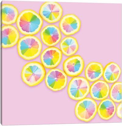 Color Wheel Citrus Canvas Art Print
