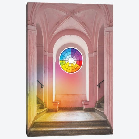 Color Wheel Window Canvas Print #ESM15} by Erin Summer Canvas Print
