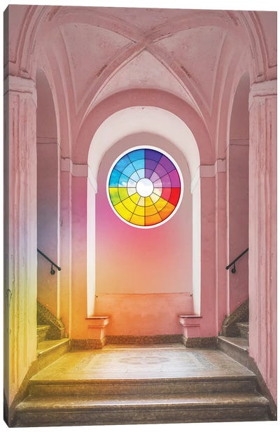 Color Wheel Window Canvas Art Print