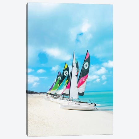 Colorful Boats Canvas Print #ESM16} by Erin Summer Canvas Art Print
