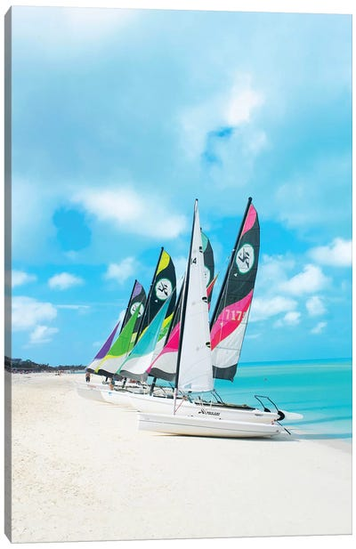 Colorful Boats Canvas Art Print