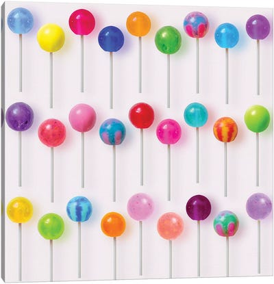 Colorful Lollipops Canvas Art Print