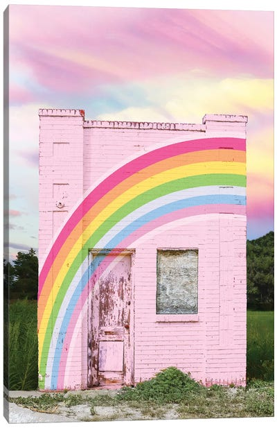 Abandoned Rainbow Canvas Art Print