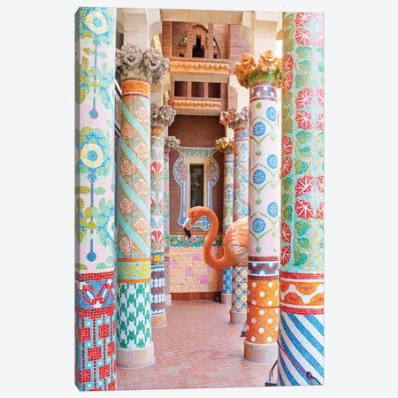 Flamingo Pillars Canvas Print #ESM23} by Erin Summer Canvas Art Print