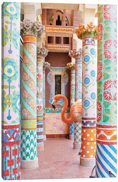 Flamingo Pillars Canvas Art Print