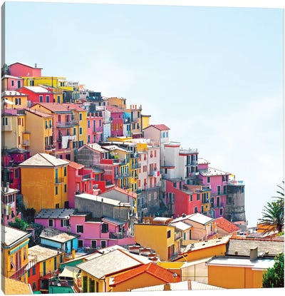 Manarola Hillside Canvas Art Print