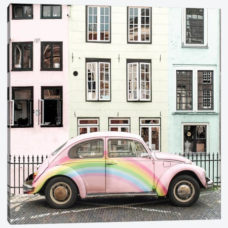 Rainbow Buggy Canvas Print #ESM41} by Erin Summer Canvas Print