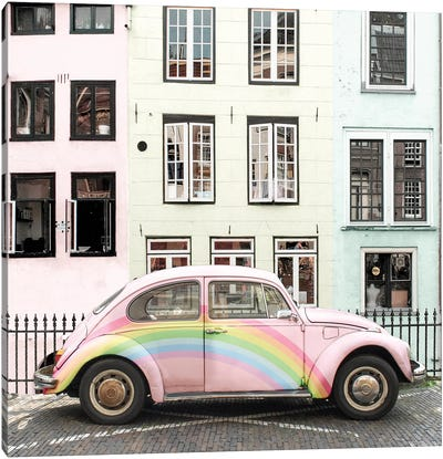 Rainbow Buggy Canvas Art Print