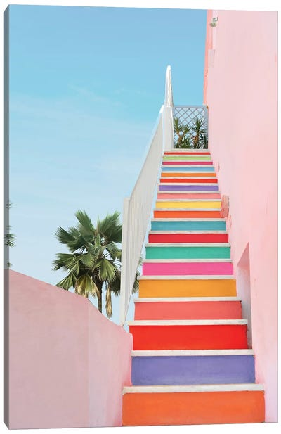 Rainbow Stairs Canvas Art Print