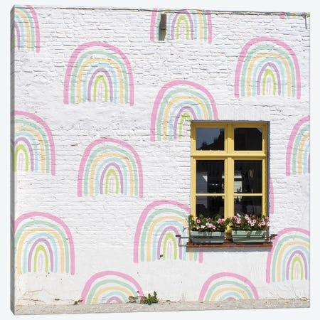Rainbow Window Canvas Print #ESM44} by Erin Summer Canvas Artwork