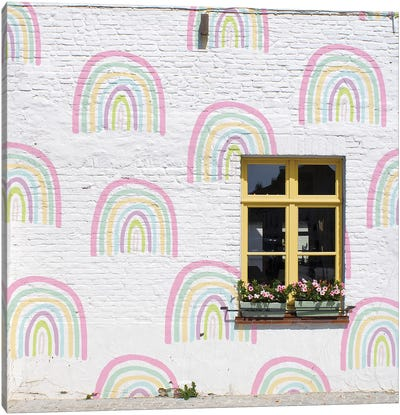 Rainbow Window Canvas Art Print