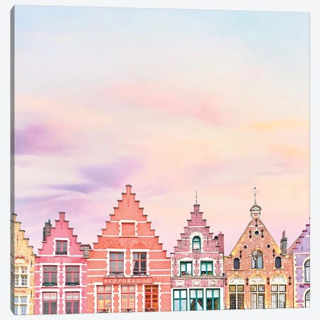 Rooftops In Bruges Canvas Print #ESM46} by Erin Summer Canvas Artwork