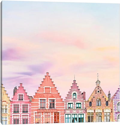 Rooftops In Bruges Canvas Art Print
