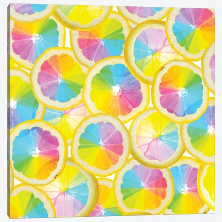 Stained Glass Citrus Canvas Print #ESM47} by Erin Summer Canvas Art