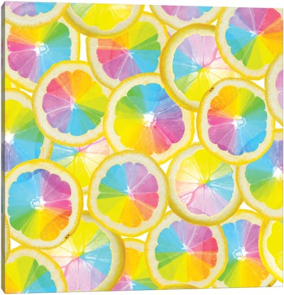 Stained Glass Citrus Canvas Art Print