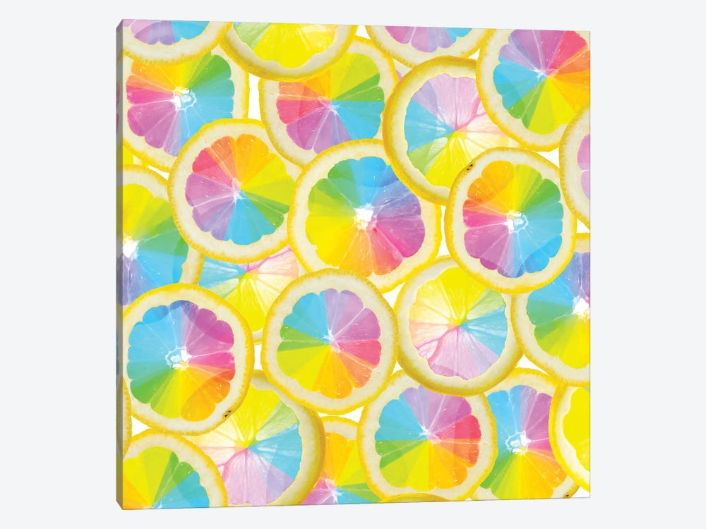 Stained Glass Citrus by Erin Summer 1-piece Canvas Art