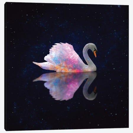 Swan Galaxy Canvas Print #ESM49} by Erin Summer Canvas Print