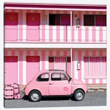 Viva Pink Vegas Canvas Print #ESM50} by Erin Summer Canvas Wall Art