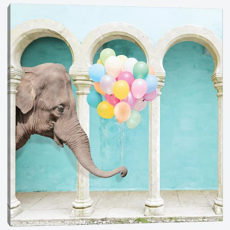 An Elephant Never Forgets Canvas Print #ESM5} by Erin Summer Canvas Art