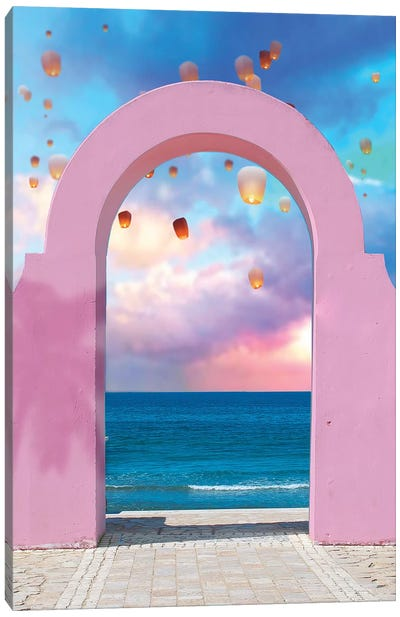 Arch And Lanterns Canvas Art Print