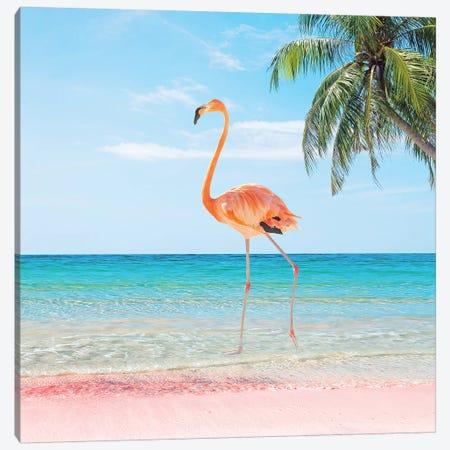 Beach Strut Canvas Print #ESM8} by Erin Summer Art Print