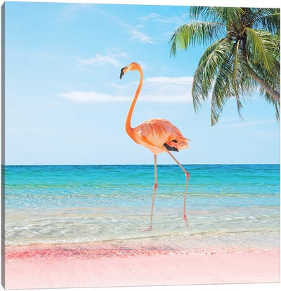 Beach Strut Canvas Art Print