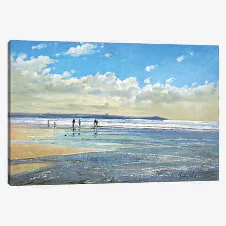 Paddling At The Edge Canvas Print #EST15} by Timothy Easton Canvas Wall Art