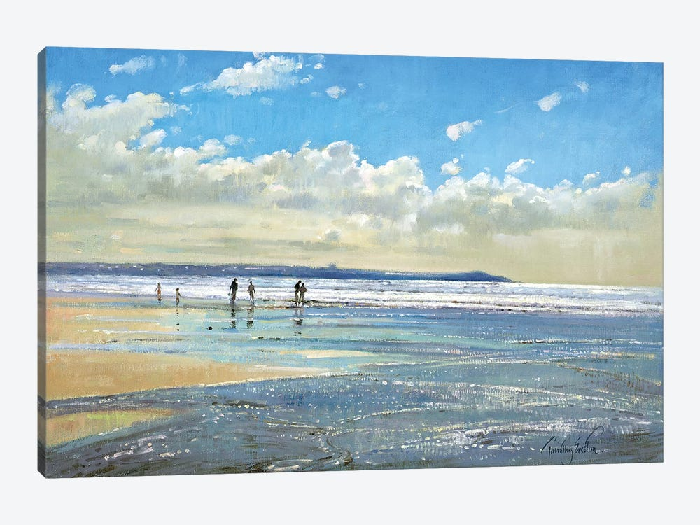 Paddling At The Edge by Timothy Easton 1-piece Canvas Wall Art