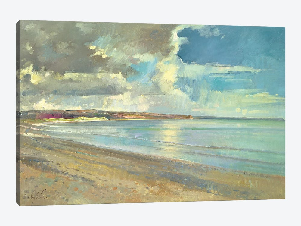 Reflected Clouds, Oxwich Beach  by Timothy Easton 1-piece Canvas Artwork