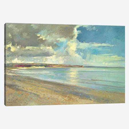 Reflected Clouds, Oxwich Beach, 2001 Canvas Print #EST17} by Timothy Easton Canvas Wall Art