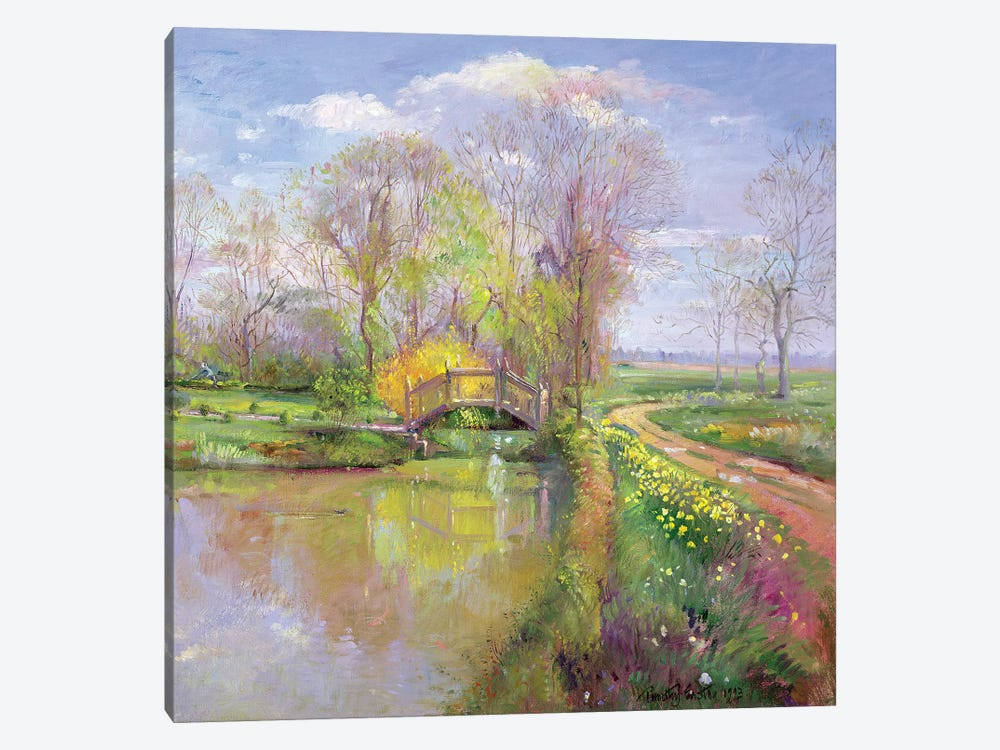 Spring Bridge 1-piece Canvas Art Print