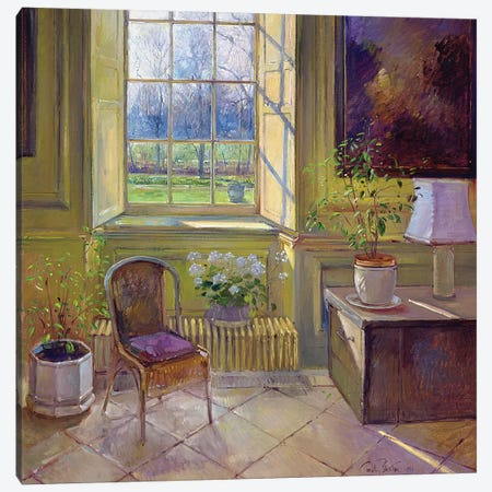 Spring Light And The Tangerine Trees Canvas Print #EST22} by Timothy Easton Canvas Art