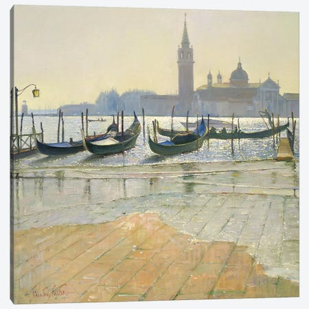 Venice At Dawn Canvas Print #EST29} by Timothy Easton Canvas Artwork