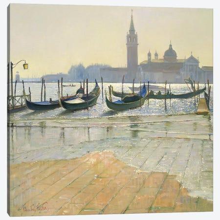 Venice At Dawn Canvas Print #EST29} by Timothy Easton Canvas Artwork