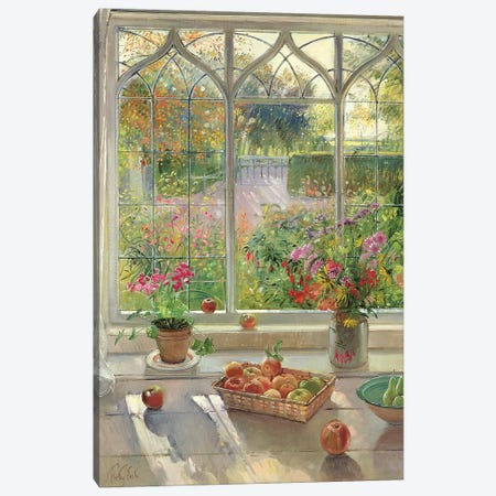 Autumn Fruit And Flowers Canvas Print #EST2} by Timothy Easton Canvas Art Print