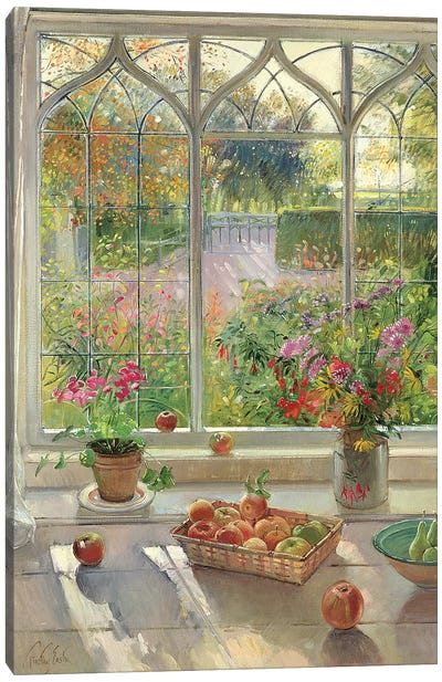 Autumn Fruit And Flowers Canvas Art Print