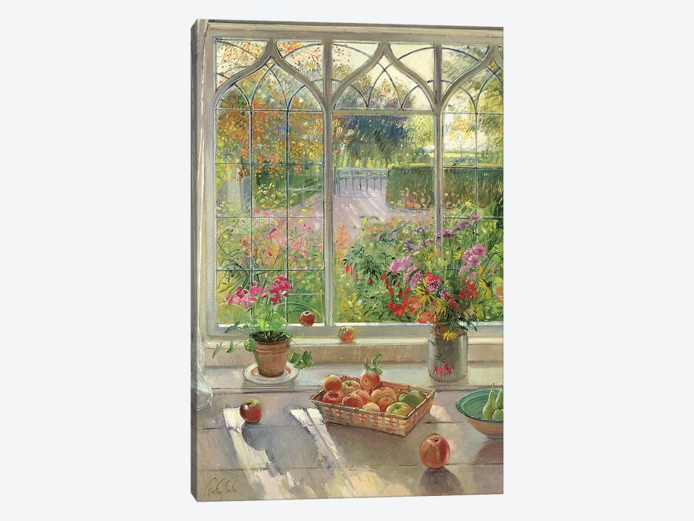 Autumn Fruit And Flowers by Timothy Easton 1-piece Canvas Art