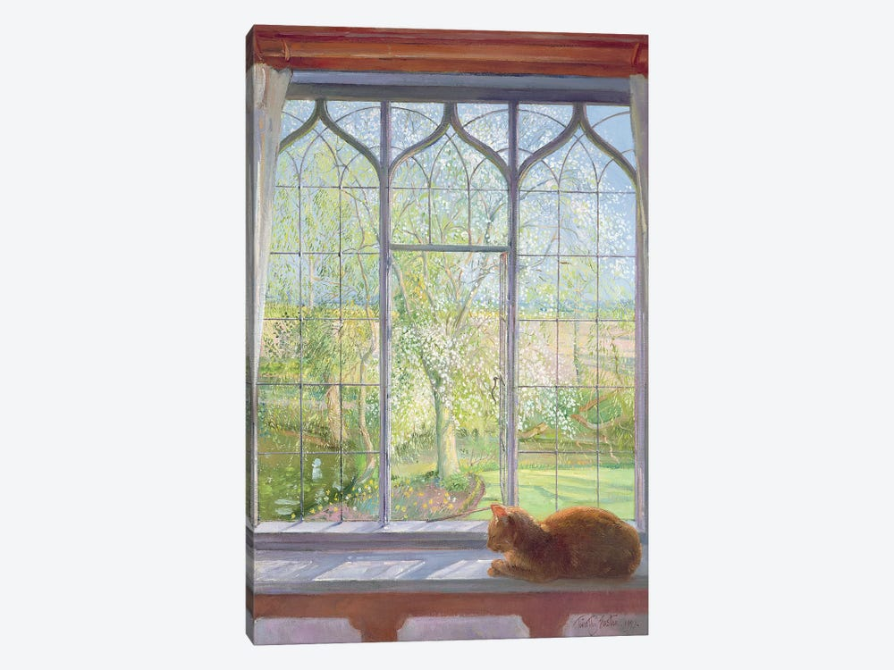 Window In Spring by Timothy Easton 1-piece Canvas Art Print