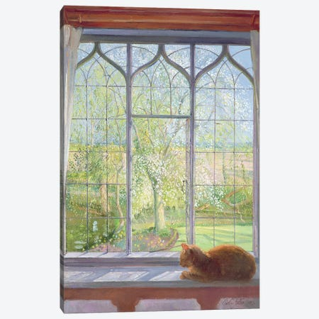 Window In Spring Canvas Print #EST30} by Timothy Easton Canvas Art Print