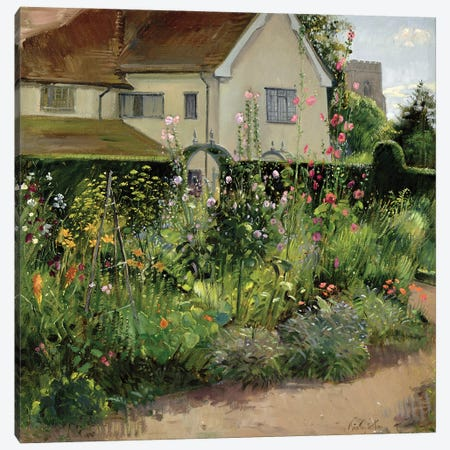 Corner Of The Herb Garden Canvas Print #EST33} by Timothy Easton Art Print